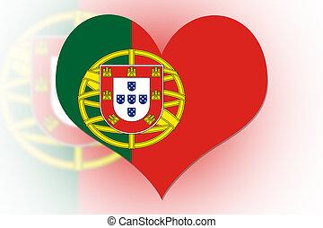 Portuguese Flag heart - Portuguese Flag in the shape of a...