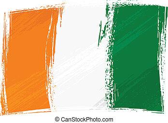 Grunge Cote dIvoire flag - Cote dIvoire national flag...