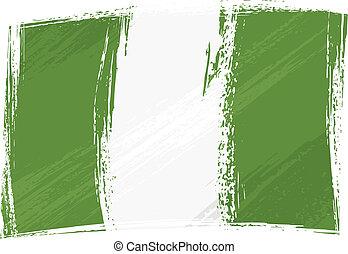 Grunge Nigeria flag