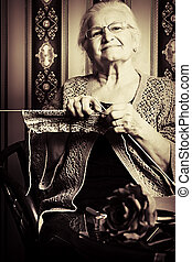 for grandchildren - Portrait of a smiling senior woman...