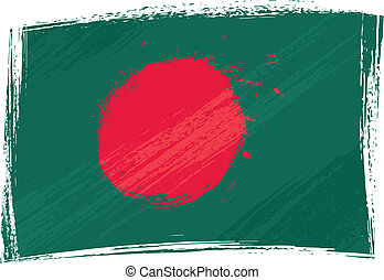 Grunge Bangladesh flag - Bangladesh national flag created in...