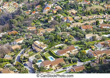 Aerial view of Monaco