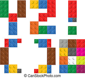 Playing brick toy alphabet letters Y-Z