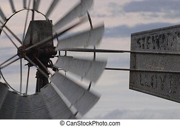 moinho de vento, movimento