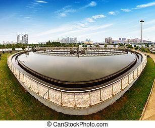 Sewage treatment plant - Modern urban wastewater treatment...