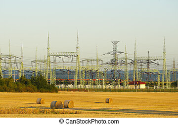 High voltage transformer in the middle field