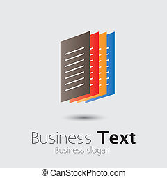Colorful Office documents or paper files- vector graphic....