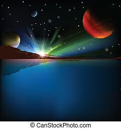 abstract space background with stars - abstract background...