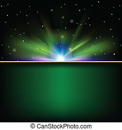 abstract space background with stars - abstract green...