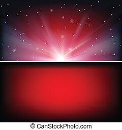 abstract space background with stars - abstract red...