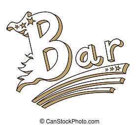 Vintage bar sign