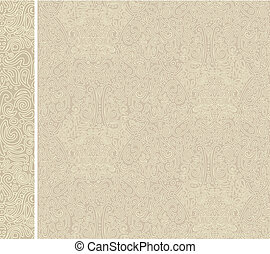 antique beige seamless pattern