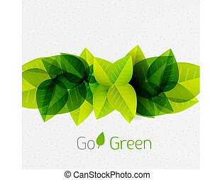 Spring / summer green leaves nature background