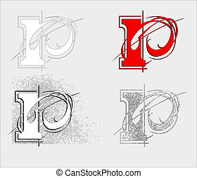 symbol P - dekorative symbol P, vector illustration EPS10,...