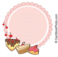 A round stationery template - Illustration of a round...