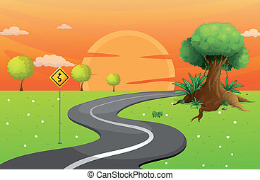 A winding road - Illustration of a winding road