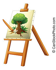 A painting of a tree - Illustration of a painting of a tree...