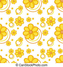 A yellow flowery design - Illustration of a yellow flowery...