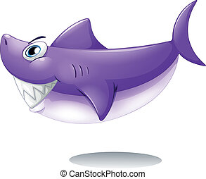 A big smiling shark