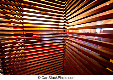 Wooden privacy screen blinds