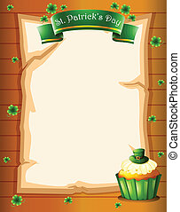 A stationery with the symbols of St. Patrick's day