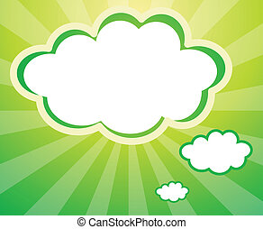 An empty template in a cloud form - Illustration of an empty...