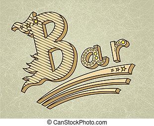 Vintage bar retro design