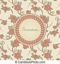 victorian style invitation cerd
