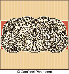 asian ornamental card