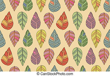 funny autumn seamless vector leaf texture