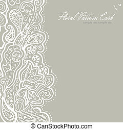 White brocade card template