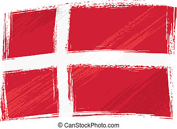 Grunge denmark flag - Denmark national flag created in...