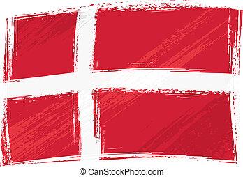 Grunge denmark flag - Denmark national flag created in...