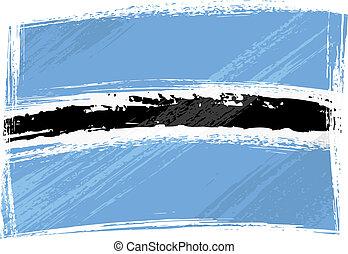 Grunge Botswana flag