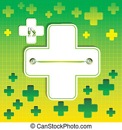 Abstract medical background - Abstract green grid medical...