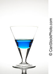 Blue Cocktail with reflections