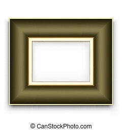 image, cadre, vecteur, ou,  Photo