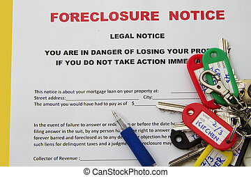 mortgage on a property - Foreclosed notice on a loan...