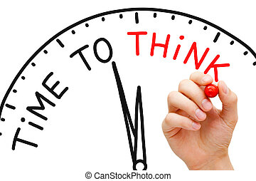Time to Think - Hand writing Time to Think concept with red...