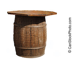 Recycled Beer Barrel, now a table - A beer barrel which is...