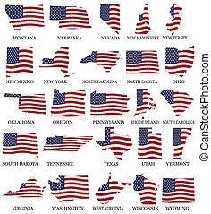 estados, norteamericano,  M,  W