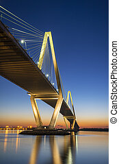Charleston SC Arthur Ravenel Jr Suspension Bridge over South...