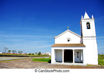 Church of Luz village, Portugal