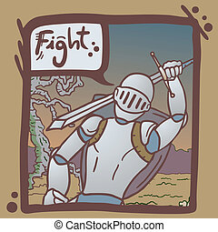 Fight army comic - Creative design of fight army comic