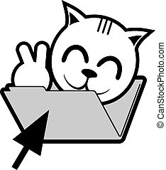 Funny folder happy cat - Funny design of foldern and face...
