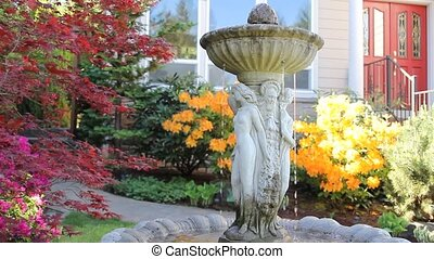 Water Fountain in Garden 1080p