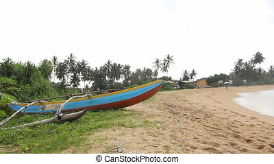 The traditional Sri Lankas boat for fishing