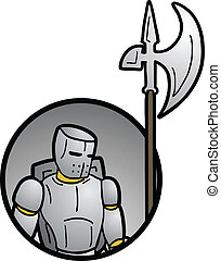 Warrior icon - Creative design of warrior icon