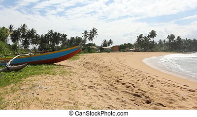Tropical beach, Sri Lanka.