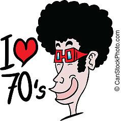 I love 1970 - Funny design of love 1970
